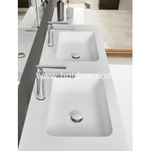 Pure acrylic White Modern Double Wash Basins