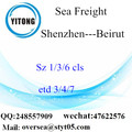Shenzhen Port LCL Consolidation To Beirut