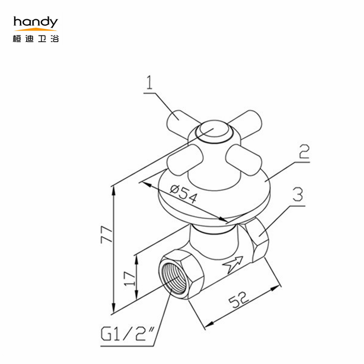 Crass Handle Angle Valve