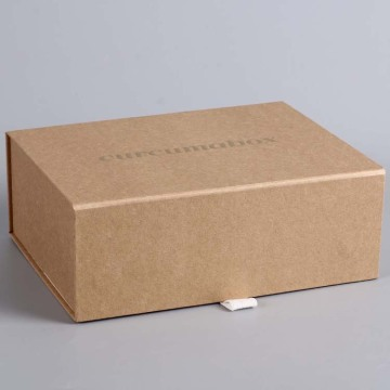 Gi-recycle nga Brown Kraft Cardboard Magnetic Fold Gift Box