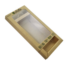PVC Window Custom Kraft Drawer Gift Paper Box
