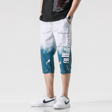 Fashion Men's baggy lace-up beach pants