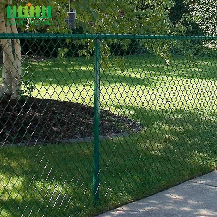 Galvanized PVC-coated Wholesale Free Design Chain Link Fence