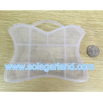 Briefcase Shape Clear Plastic Jewelry Box Plastic Storage Box With Handle
