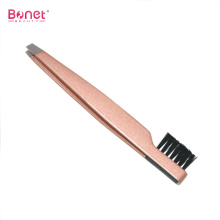 Stainless steel eyebrow brush tweezers