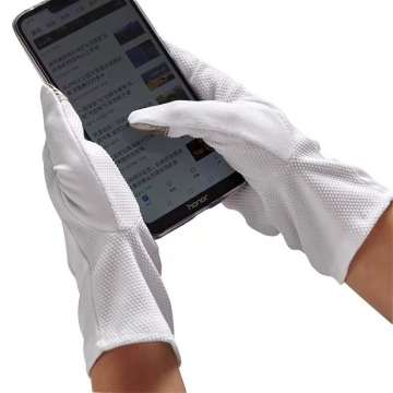High Quality Driving White Cotton Hand Touch Screen Gloves