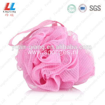 charming mesh pouf bath sponge shower ball