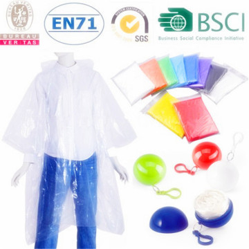 Factory directly sale Disposable Adult PE Rain Ponchos