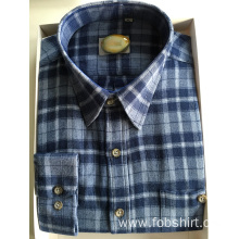 Men Business Flannel Fabric Shirt