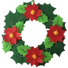 Christmas fresh flower hanging wall decorations