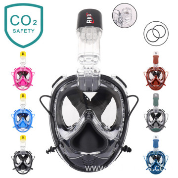RKD new design full face snorkeling silicone mask