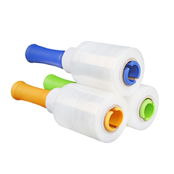 Bundling colourful plastic moving stretch wrap film