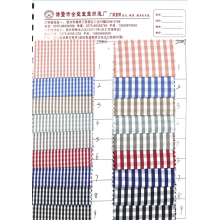 Polyester cotton plaid shirt fabric