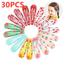18/20/30PCS New Color Snap Hair Clip For Baby Girls Butterfly Hair Clip Flower Butterfly Hair Pin Barrettes Hairpins Accessories