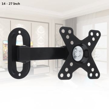 Universal 10KG Adjustable TV Wall Mount Bracket Flat Panel TV Frame Support 30 ° for 14 - 27 Inch LCD LED Monitor Flat Pan