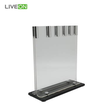 Stainless Steel Kitchen Knife with Acrylic Stand