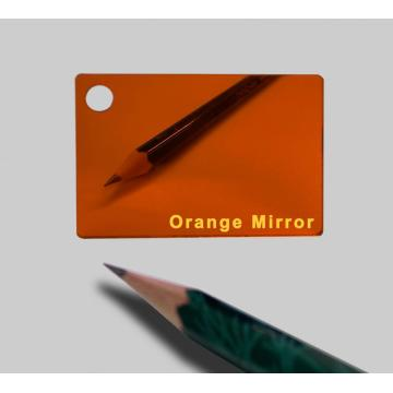 Acrylic Sheets Single Side Grey coating Orange Mirror