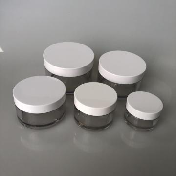 200ml clear PET jar with white lid
