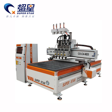 CNC 4 heads carving wood machine Router Superstar