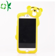 Cute Yellow Bear Telephone Case Soft Silicone Shell