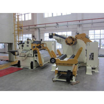 Decoiler straightener feeder for hardware parts stamping