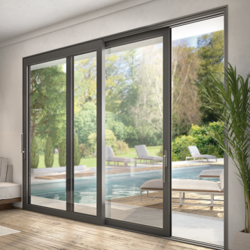 Lingyin Construction Materials Ltd High Quality aluminium double glass sliding door Aluminium Indoor Glass Sliding Doors