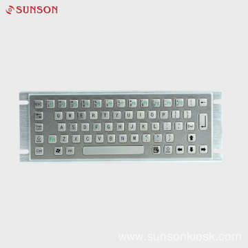 Waterproof IP65 Industrial Metal Keyboard