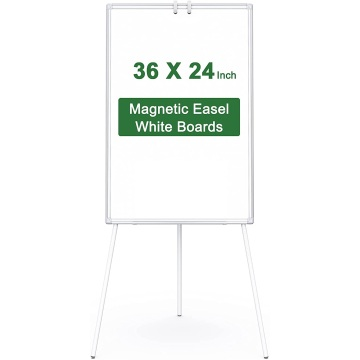 Height Adjustable Flipchart Easel White Board for Office
