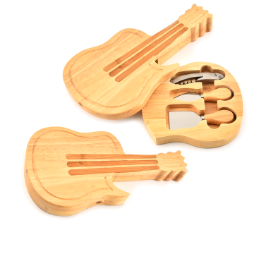 3PCS Cheese Set With Wooden Violin Shaped Box