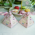 Pyramid shape wedding favor box