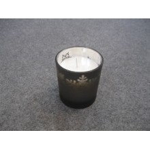 Scented Classic White Candle in Colored Glass