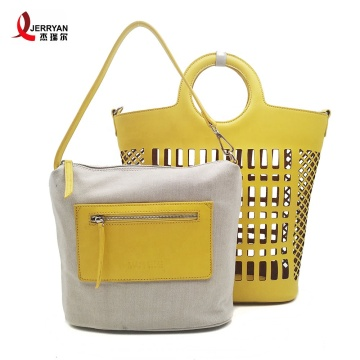 Yellow Shoulder Bucket Bags Handbags for Ladies
