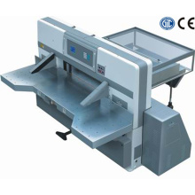 Microcomputer double worm wheel double guide paper cutting machine