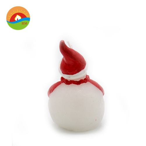 Custom christmas decoration painted snowman shape led candle