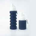silicone leakproof foldable travel sports water bottle