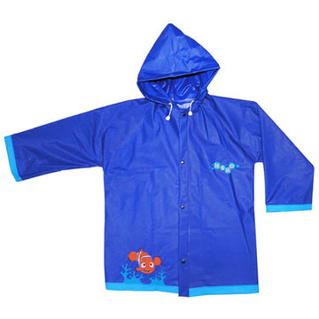 Dark Blue Kids Pvc Rainwear