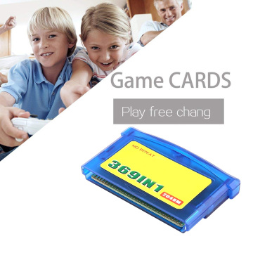 369 In Classic Game Card Memory Console Portable Home Player Accessories Video Cartridge Plastic Game Card For Nintendo GBA