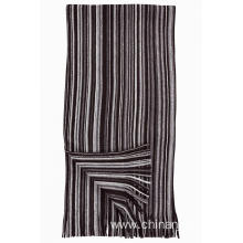 Mens Knitted Stripe Scarf