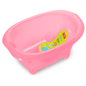 Transparent Plastic Baby Bathtub With Bath Support S