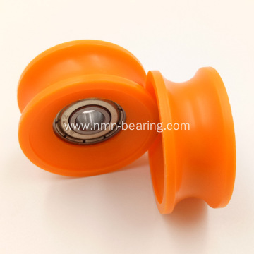 608 V slot plastic pulley aluminum bearing groove v wheel