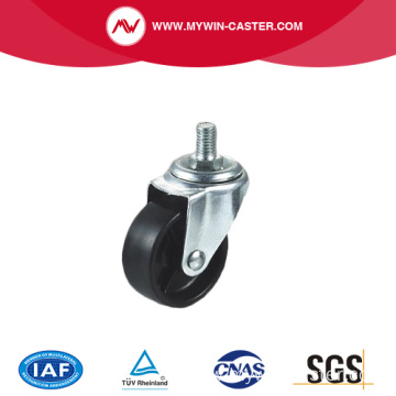 Light duty zinc plated swivel side brake industrial caster