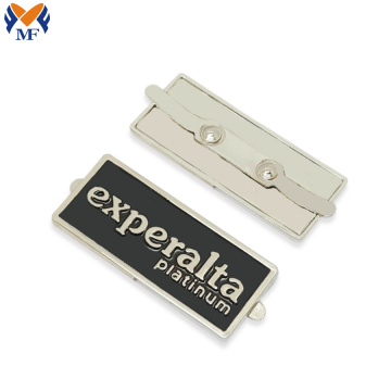 Metal logo pendant tag for handbag