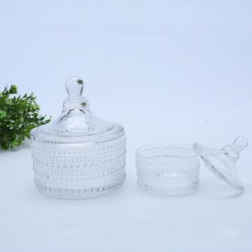 Pearl Crystal Clear Glass Candle/Candy Jars