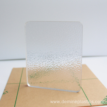 Diamond embossed clear polycarbonate sheet