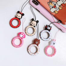 Universal PVC Cute Cartoon Anti-lost Finger Ring Lanyard With Elastic Mobile Phone Strap For Phone Case Mobile Phone Accessories