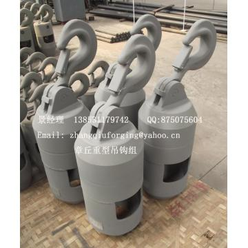 Auxiliary hook group for truck crane