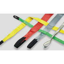 3T polyester braide color code lifting belt sling
