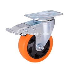 PVC Base Wheel with total locking