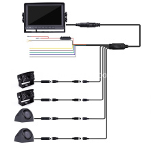 Quad Backup Camera Monitor System