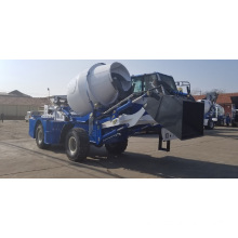 Self-loading Mobile Concrete Mixing Machine With Truck